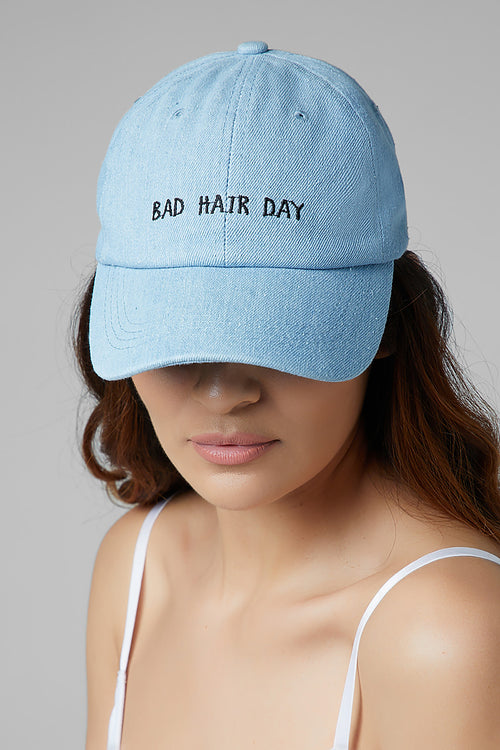 Bad Hair Day Denim Cap
