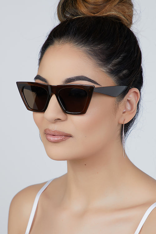 Bad Gal Sunglasses Brown