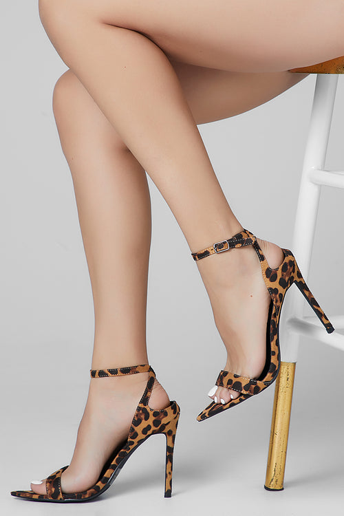 Cape Robbin leopard pointed toe heel
