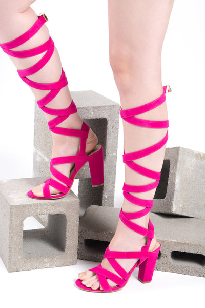 cd4214c76f May Fuschia Lace Up Chunky Heel -Shop Shoes at Chris and Mae's! – Chris & Mae's  Shoetique