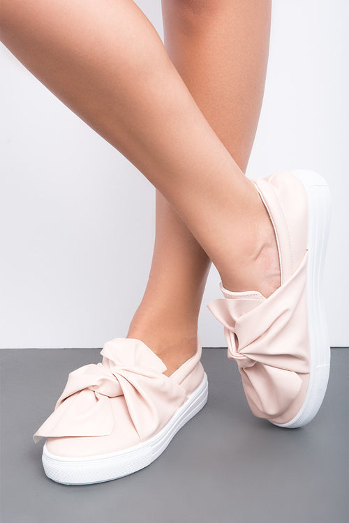 Reba Bow Slip On Sneaker Blush