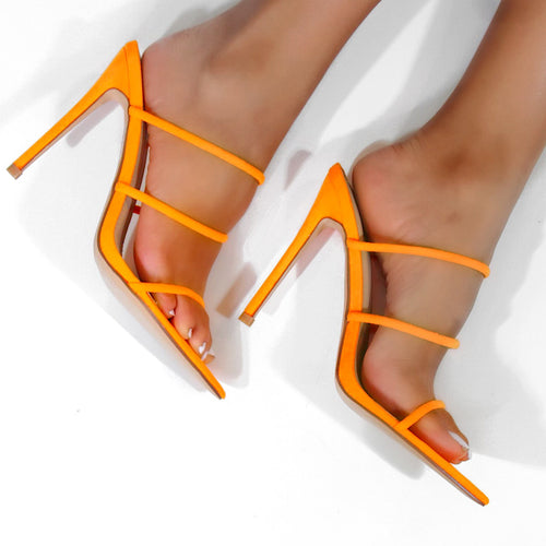 Encore Strappy High Heel (Orange)
