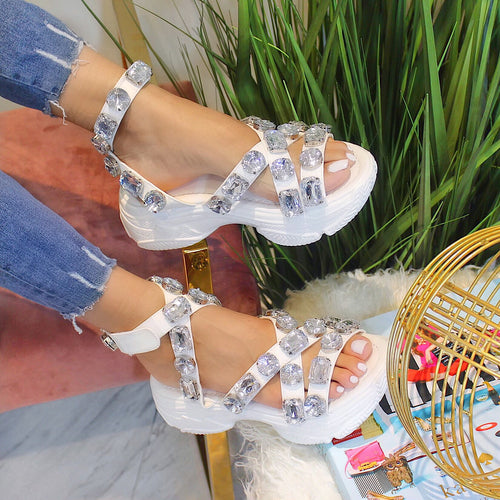 Statement Jewel Sneaker Sandals