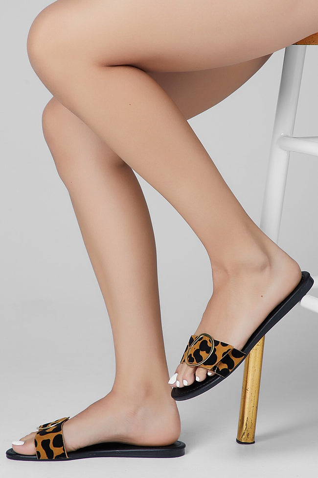 Bellini Leopard Slip On Sandal