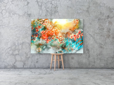 Spring Blossom Vector Oil Canvas