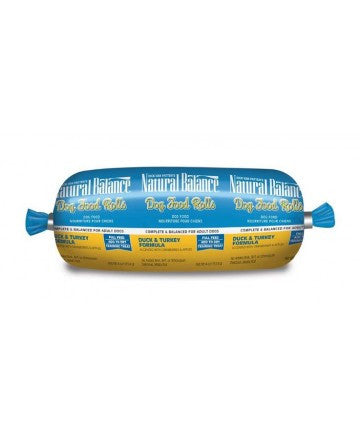 NATURAL BALANCE DOG DUCK & TURKEY ROLL 4OZ