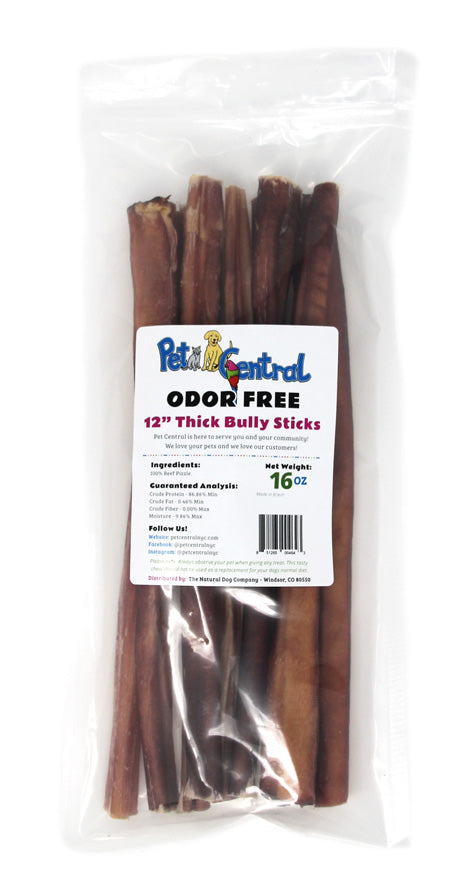"PET CENTRAL THICK BULLSTICKS 12"" 16OZ"