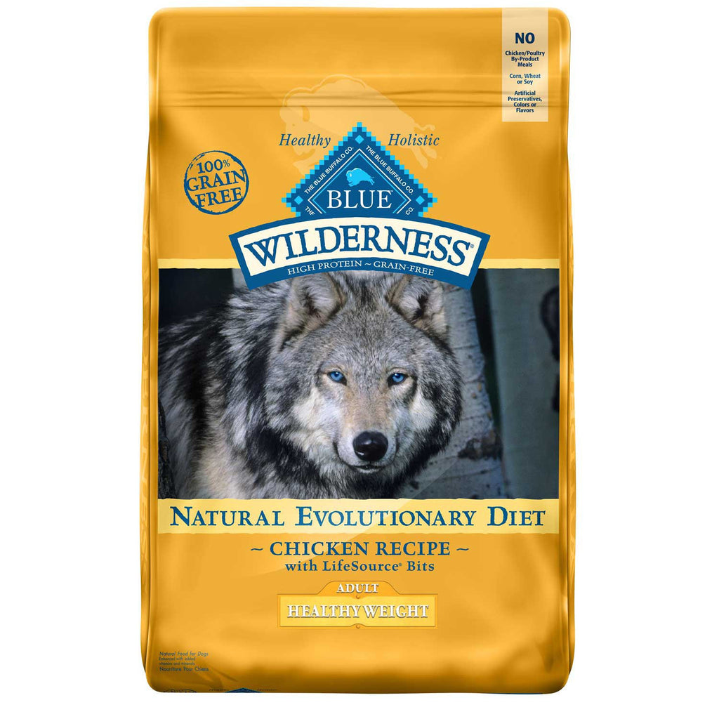 BLUE BUFFALO DOG WILDERNESS HEALTHY WEIGHT CHICKEN 11LBS