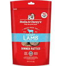 STELLA & CHEWY'S DANDY LAMB FREEZE DRIED DINNER PATTIES, DOG 5.5OZ