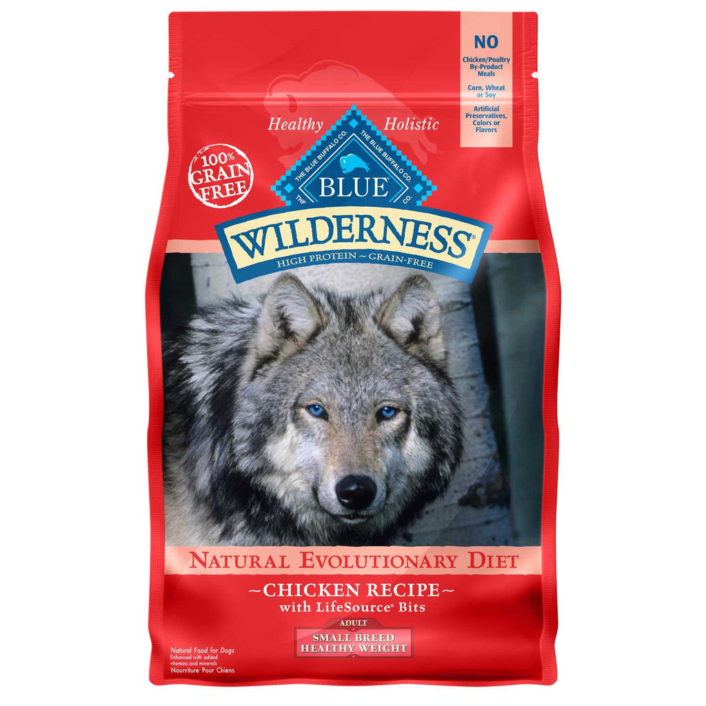 BLUE BUFFALO DOG WILDERNESS SMALL BREED HEALTHY WEIGHT CHICKEN 4.5LBS