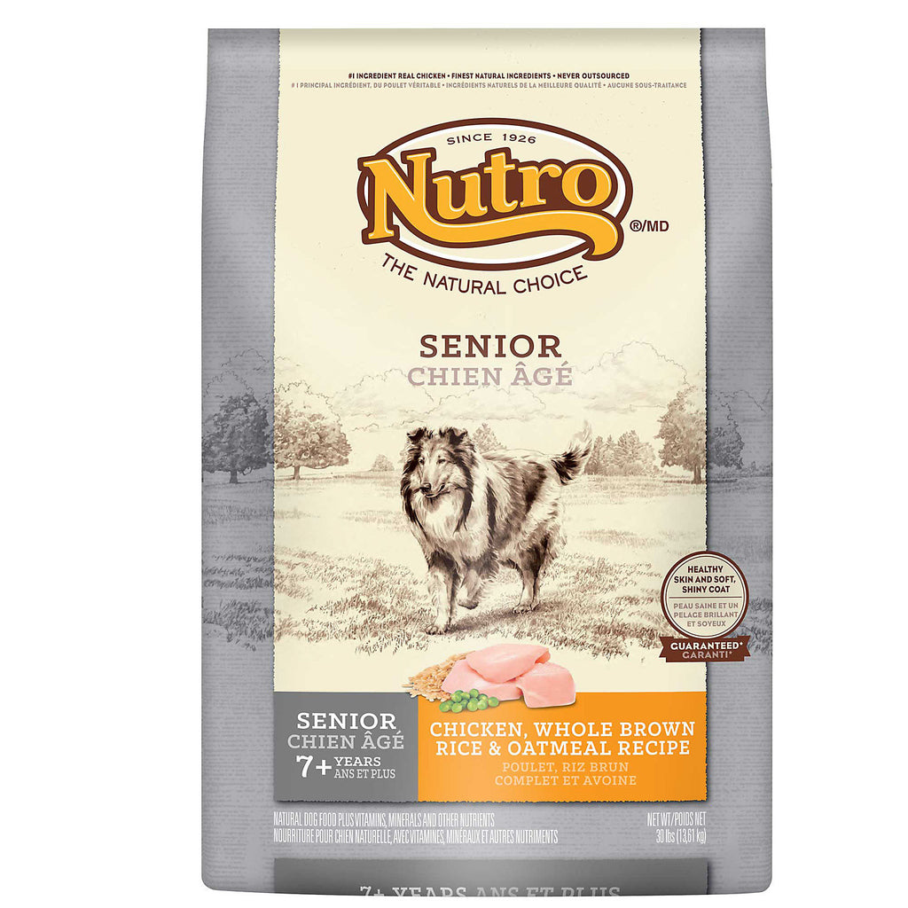 NUTRO NATURAL CHOICE DOG SENIOR CHICKEN, WHOLE BROWN RICE & OATMEAL RECIPE 15LBS