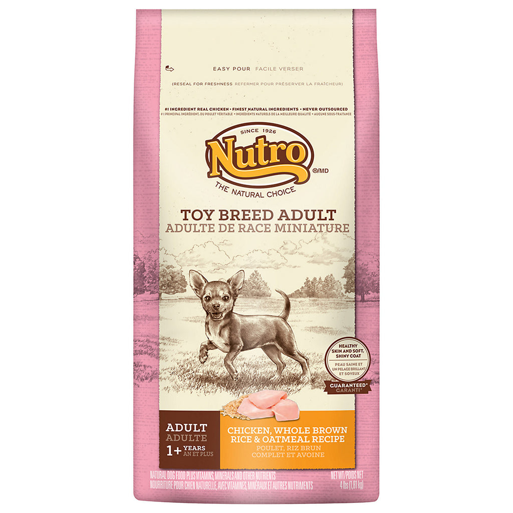 NUTRO NATURAL CHOICE DOG TOY BREED CHICKEN, WHOLE BROWN RICE & OATMEAL RECIPE 4LBS