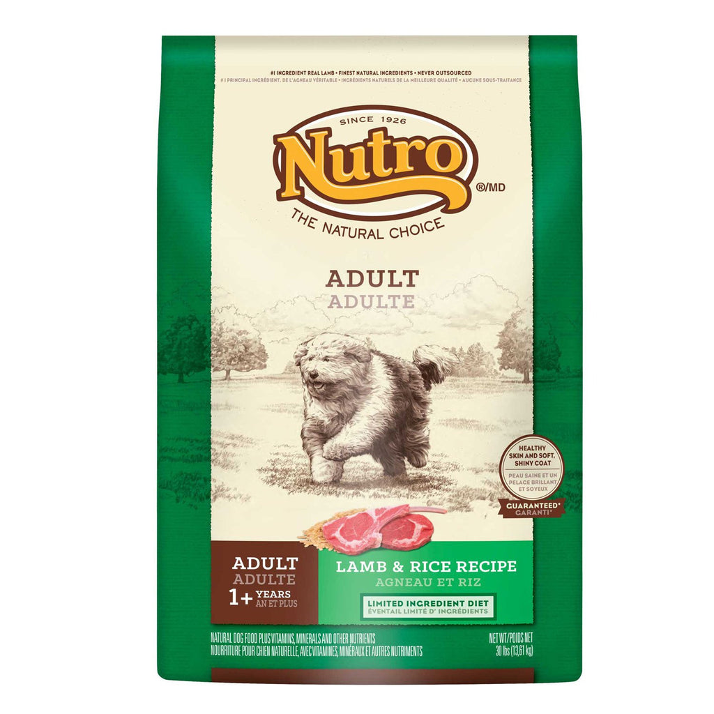 NUTRO NATURAL CHOICE DOG LAMB & RICE RECIPE 15LBS