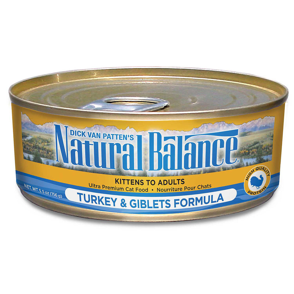 NATURAL BALANCE CAT TURKEY & GIBLETS FORMULA 5.5OZ