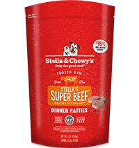 STELLA & CHEWY'S SUPER BEEF FROZEN DINNER PATTIES, DOG 3LBS