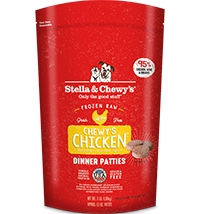 STELLA & CHEWY'S CHICKEN FROZEN DINNER PATTIES, DOG 3LBS