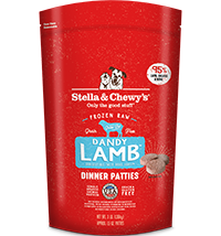 STELLA & CHEWY'S DANDY LAMB FROZEN DINNER PATTIES, DOG 6LBS