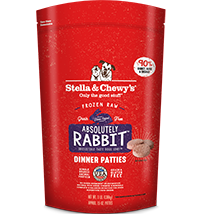 STELLA & CHEWY'S ABSOLUTELY RABBIT FROZEN DINNER PATTIES, DOG 3LBS