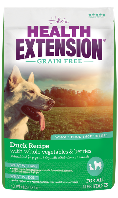 HEALTH EXTENSION DOG GRAIN FREE DUCK 4LBS