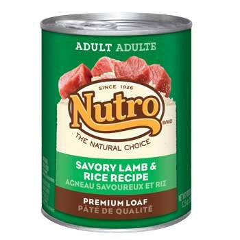 NUTRO NATURAL CHOICE DOG SAVORY LAMB & RICE RECIPE 12.5OZ