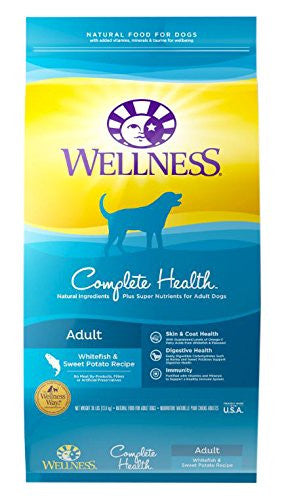 WELLNESS DOG COMPLETE HEALTH WHITEFISH & SWEET POTATO RECIPE 5LBS