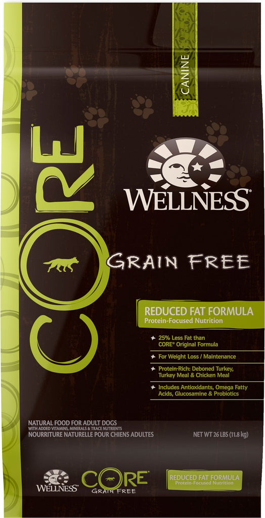 WELLNESS DOG CORE GRAIN FREE REDUCED FAT FORMULA 26LBS
