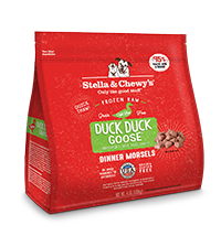 STELLA & CHEWYS FROZEN DUCK DINNER MORSLES, DOG 4LBS