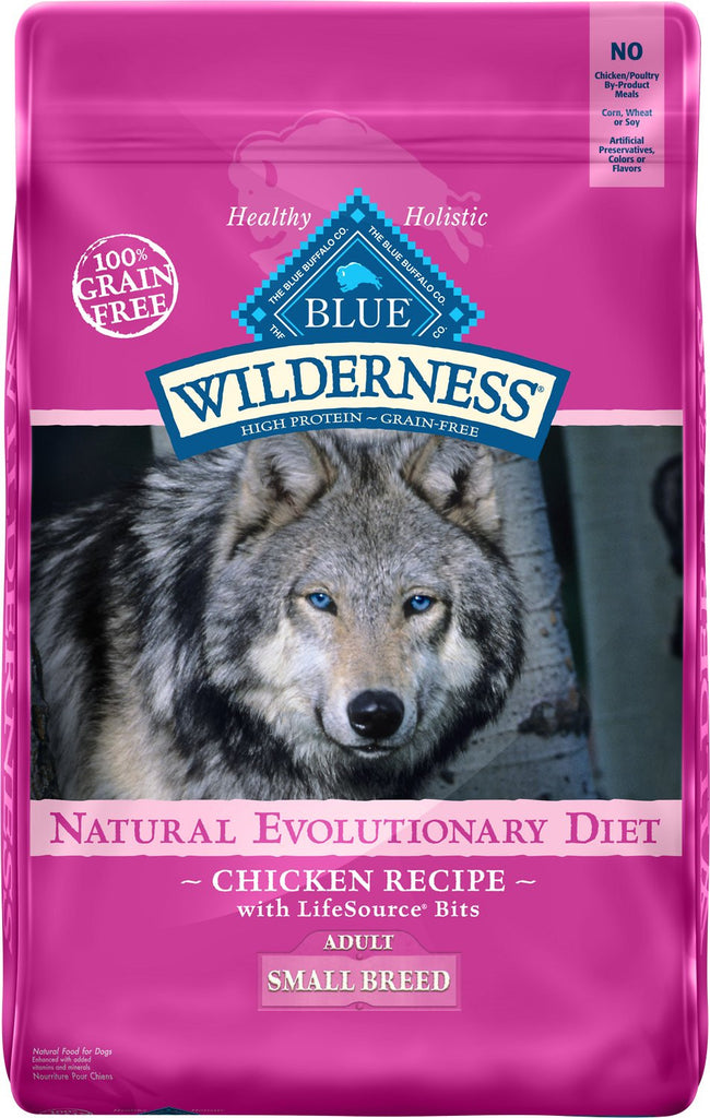 BLUE BUFFALO DOG WILDERNESS SMALL BREED CHICKEN 4.5LBS