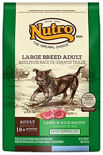 NUTRO NATURAL CHOICE DOG LAMB & RICE LARGE BREED 30LBS