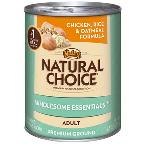 NUTRO NATURAL CHOICE DOG CHICKEN, RICE & OATMEAL 12.5OZ