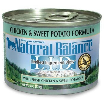 NATURAL BALANCE DOG LIMITED INGREDIENT DIET CHICKEN & SWEET POTATO 6OZ