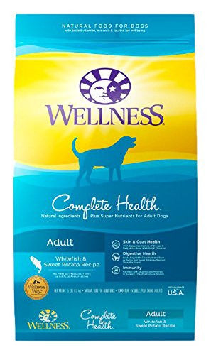 WELLNESS DOG COMPLETE HEALTH WHITEFISH & SWEET POTATO 15LBS
