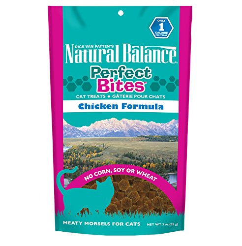 NATURAL BALANCE CAT PERFECT BITES CHICKEN 3OZ