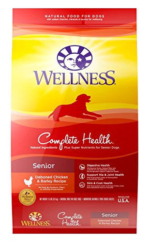 WELLNESS DOG COMPLETE HEALTH SENIOR DEBONED CHICKEN & BARLEY RECIPE 15LBS