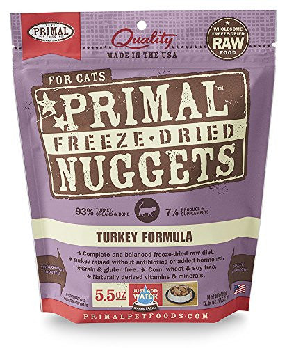 PRIMAL CAT DRIED TURKEY 5.5OZ