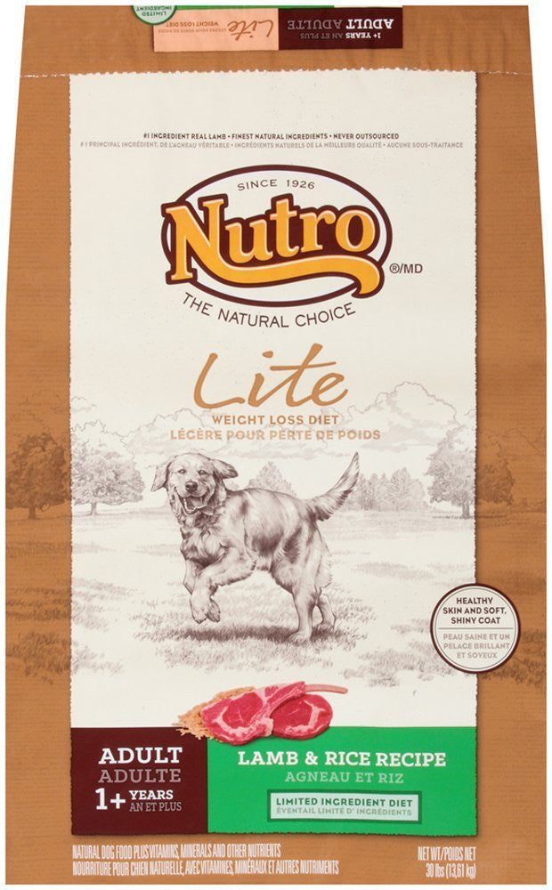 NUTRO NATURAL CHOICE DOG LITE LAMB & RICE 30LBS