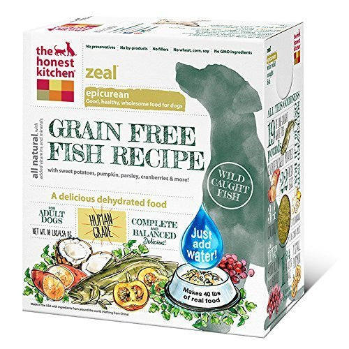 THE HONEST KITCHEN ZEAL GRAIN FREE FISH RECIPE 10LBS