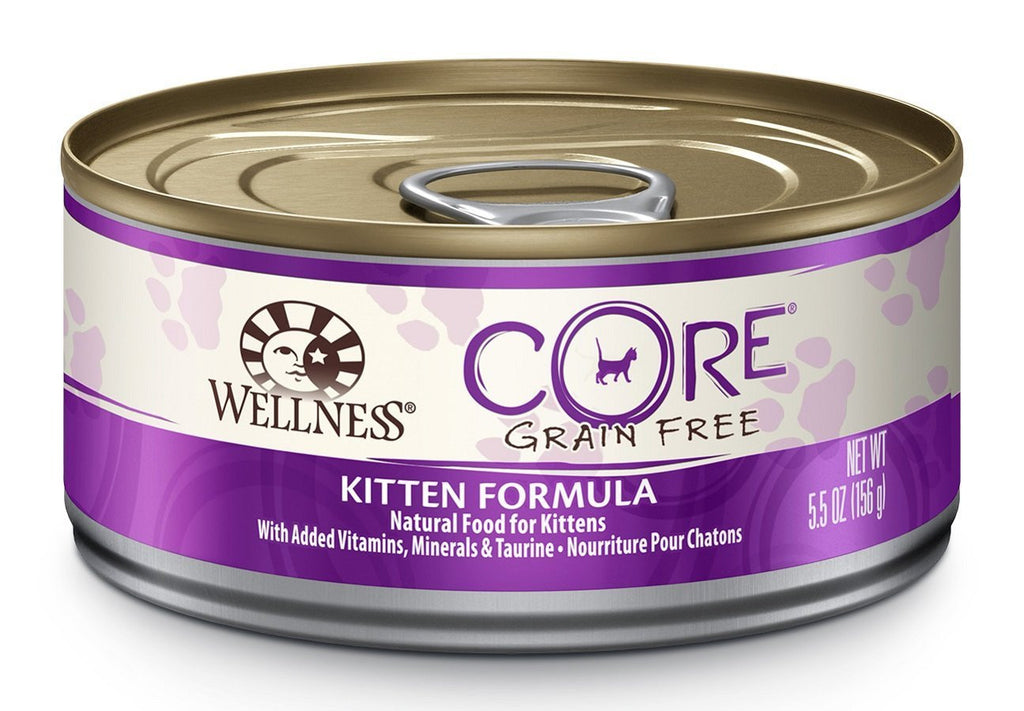 WELLNESS KITTEN CORE TURKEY & CHICKEN LIVER RECIPE 5.5OZ