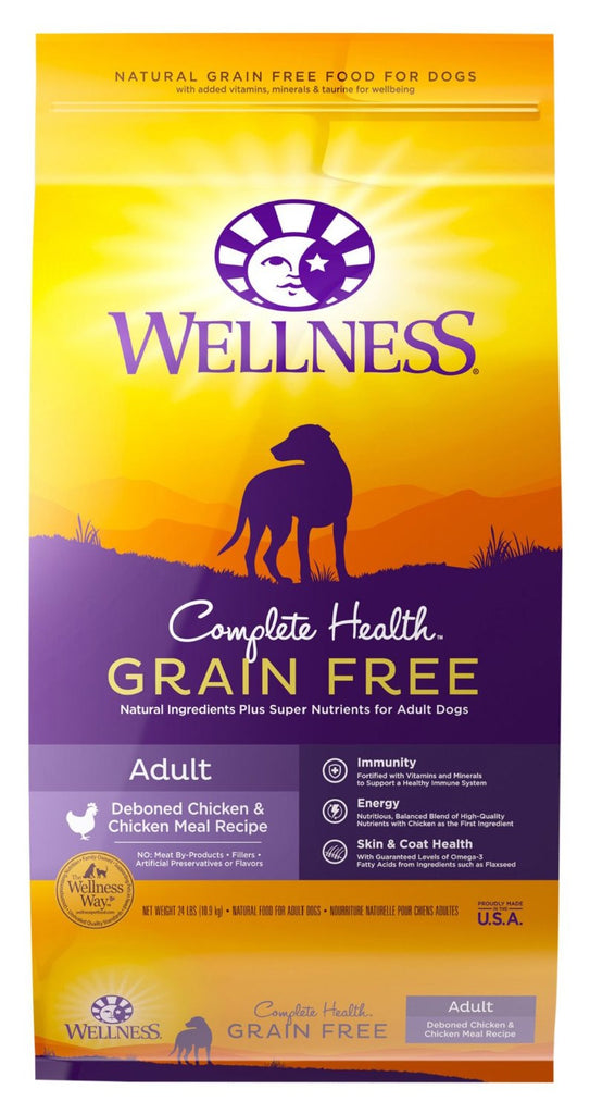 WELLNESS DOG GRAIN FREE DEBONED CHICKEN & CHICKEN MEAL 24LBS