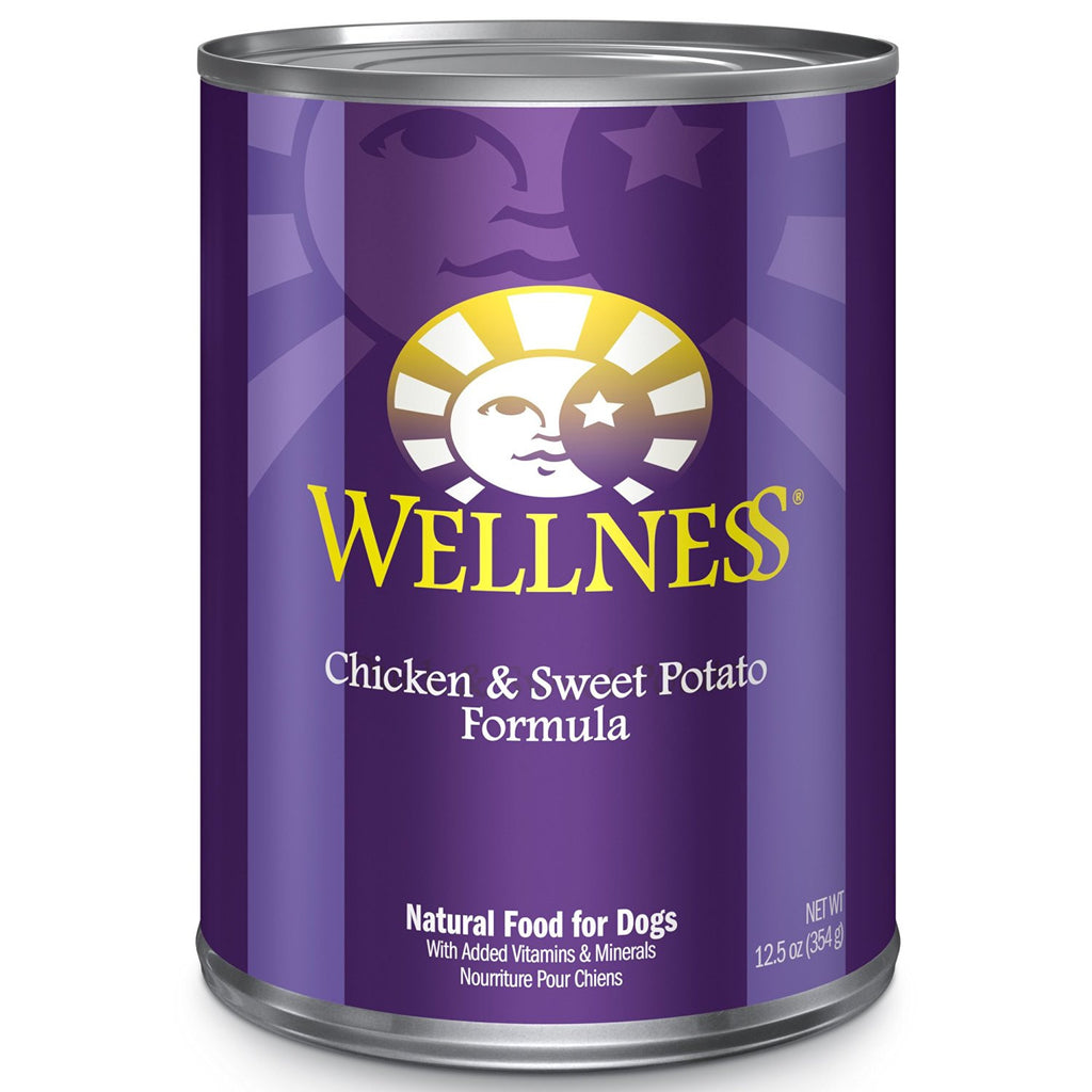 WELLNESS DOG CHICKEN & SWEET POTATO RECIPE 12.5OZ