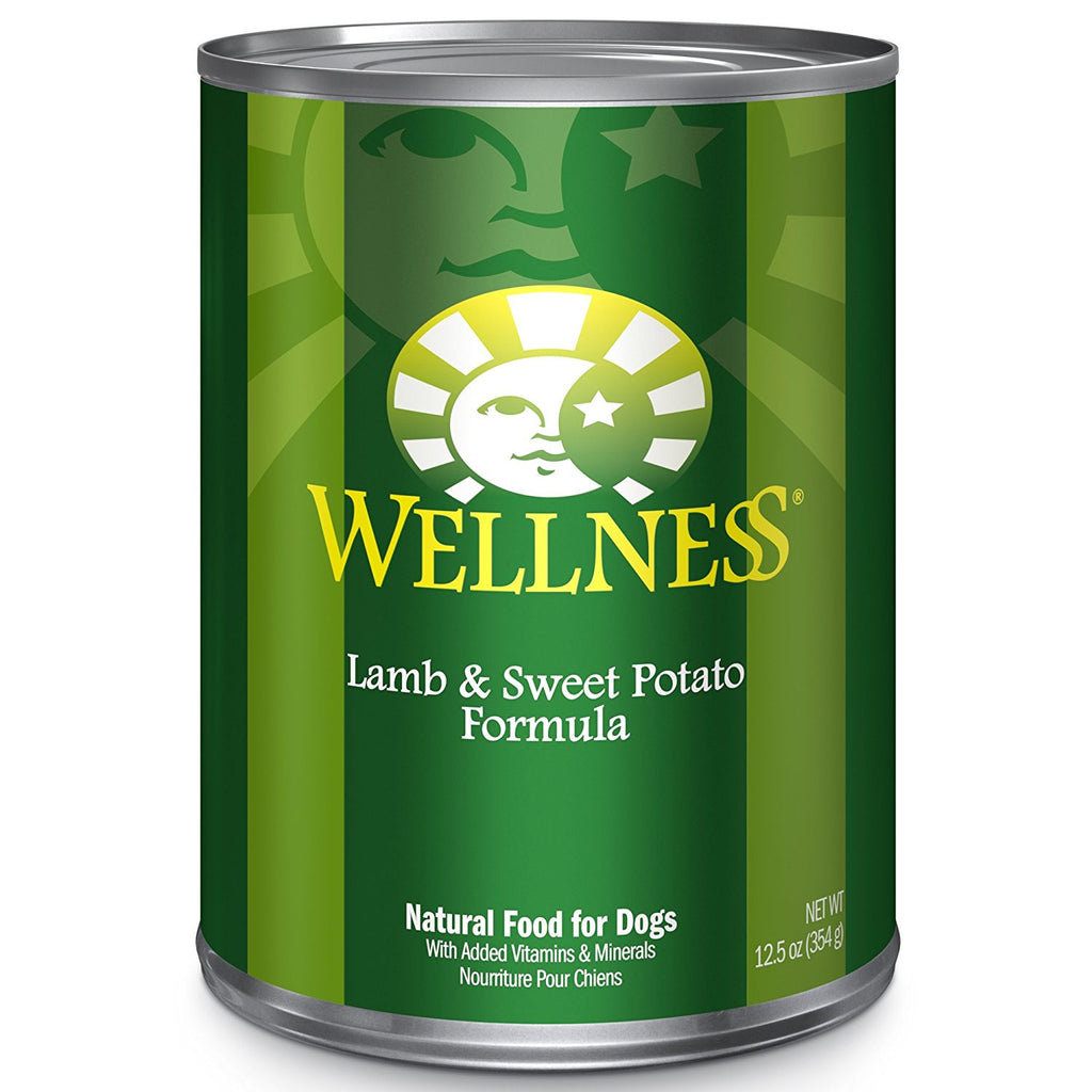 WELLNESS DOG LAMB & SWEET POTATO RECIPE 12.5OZ