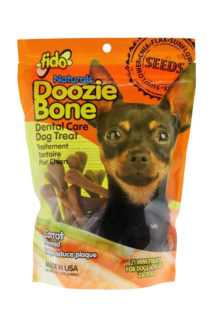 FIDO NATURALS DOOZIE BONE CARROT MINI 21 COUNT