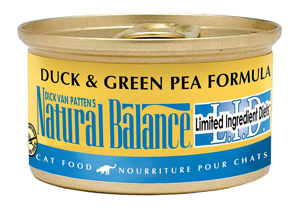 NATURAL BALANCE CAT LIMITED INGREDIENT DIET DUCK & GREEN PEA FORMULA 3OZ