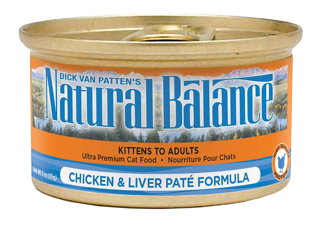 NATURAL BALANCE CAT CHICKEN & LIVER PATE FORMULA 3OZ