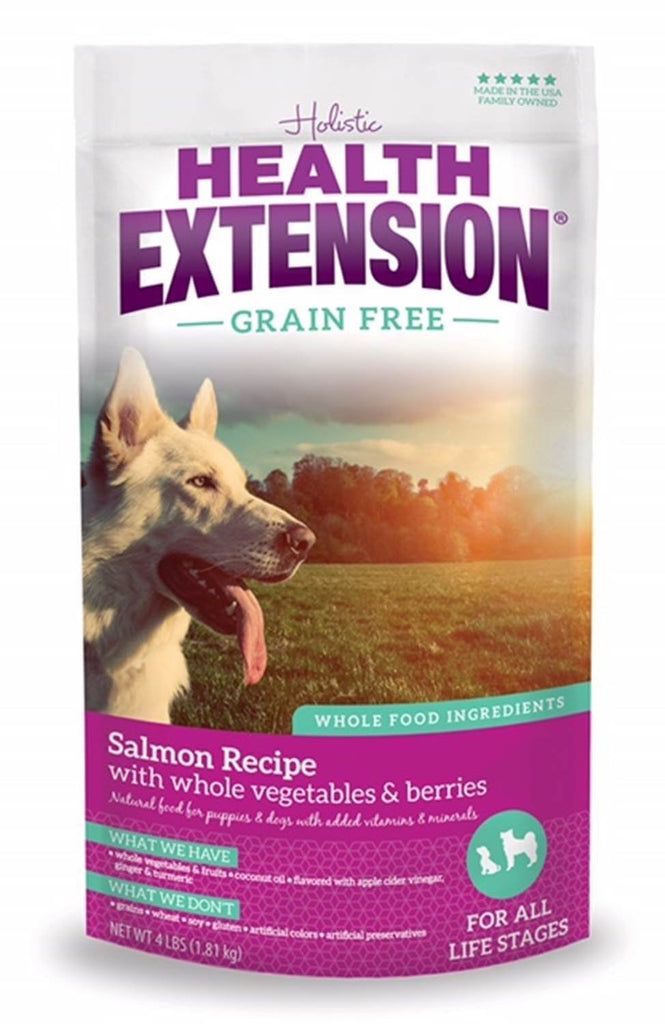 HEALTH EXTENSION DOG GRAIN FREE SALMON 4LBS