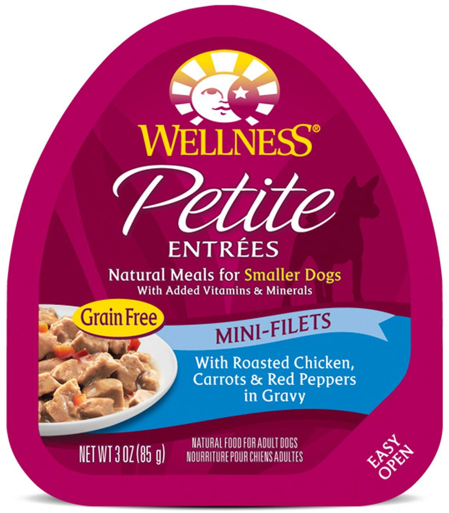 WELLNESS DOG PETITE ENTREES ROASTED CHICKEN, CARROTS & RED PEPPERS 3OZ