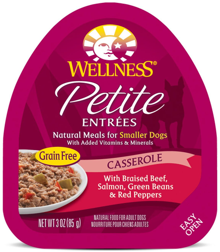 WELLNESS PETITE ENTREES DOG CASSEROLE BEEF & SALMON 3OZ