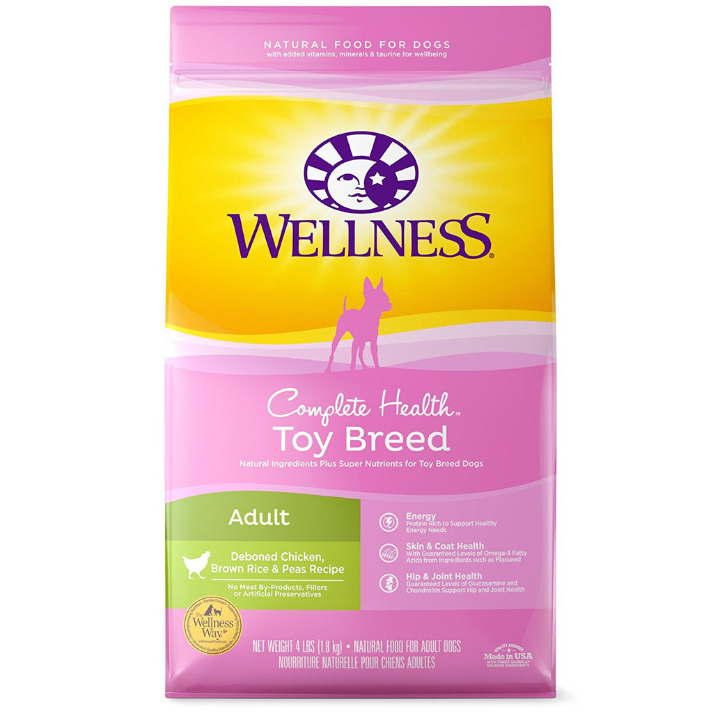 WELLNESS DOG TOY BREED CHICKEN, BROWN RICE & PEAS 4LBS