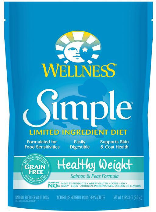WELLNESS DOG SIMPLE LIMITED INGREDIENT HEALTHY WEIGHT SALMON & PEAS 4LBS