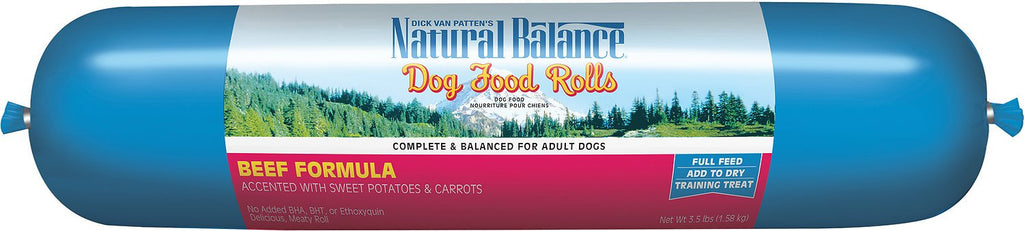 NATURAL BALANCE DOG BEEF & RICE ROLL 3.5LBS